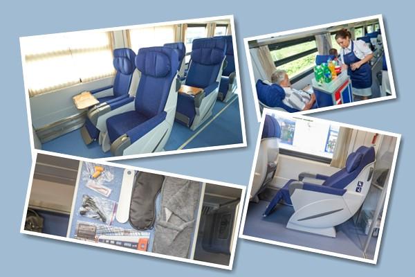 Первый класс поезда Стриж